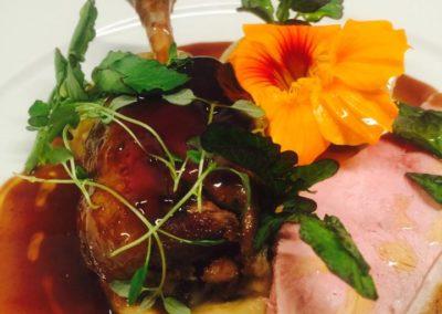 Dish,  Duck and Nasturtium